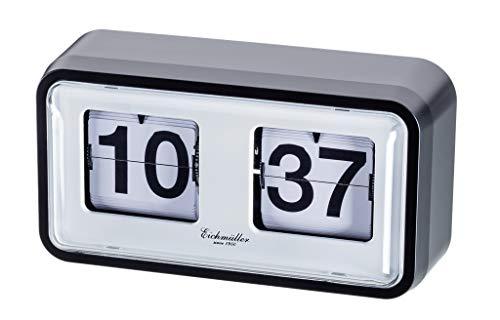 Eichmüller since 1950 Retro Flip Uhr mit Gehäuse - schwarz weiß
