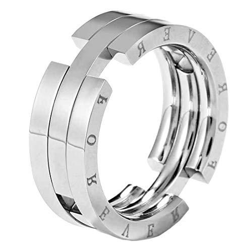 指輪 リング サージカルステンレス 変形フォーエバーエターナルステンレスリング(RMT216)サイズ/29号 シルバー メンズ ネックレス ペンダントトップ シンプル