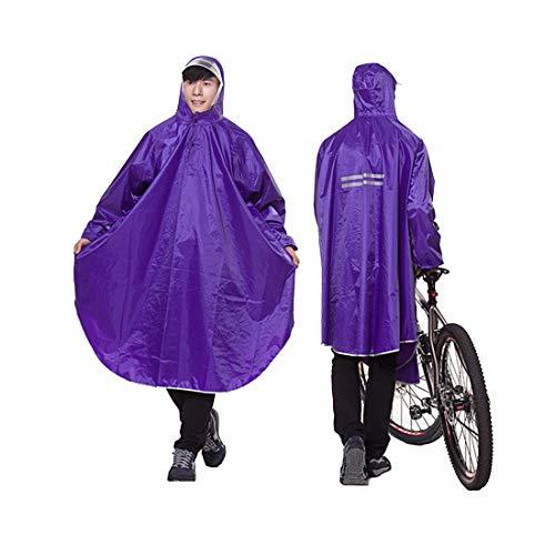 YUUY Poncho de Lluvia al Aire Libre, Cubierta de Lluvia Larga Adicional, Impermeable Ligero Impermeable for Hombres y Mujeres, el Ciclismo al Aire Libre y Senderismo (Color : Purple)