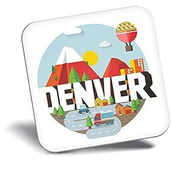 Destination Vinyl ltd Awesome Fridge Magnet - Denver Colorado City Cartoon Map 10399