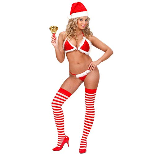Amakando Noël Bikini sous-vêtements Sexy Soutien Madame Christmas Lingerie Dessous Ange Mignon pour Femme déguisement