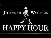Johnnie Walker Happy Hour LED看板 ネオンサイン ライト 電飾 広告用標識 W40cm x H30cm ホワイト