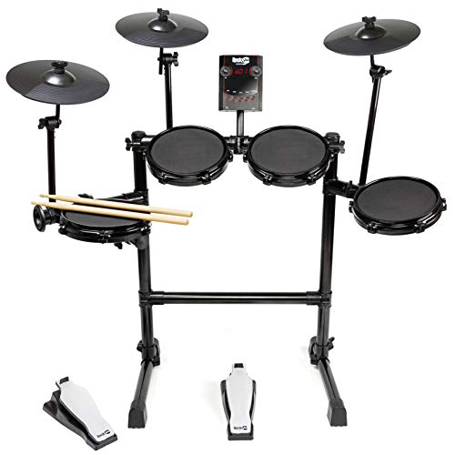 Rockjam Mesh Head Kit, Eight Piece Electronic Drum Kit with Mesh Head, Easy...