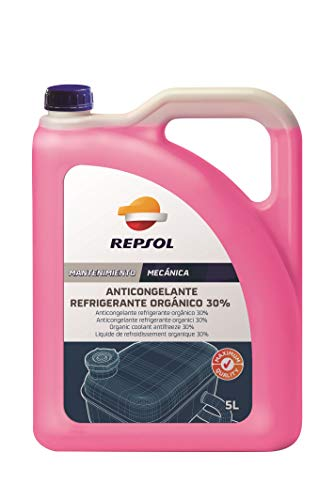 REPSOL Anticongelante Refrigerante Orgánico 30%, 5L