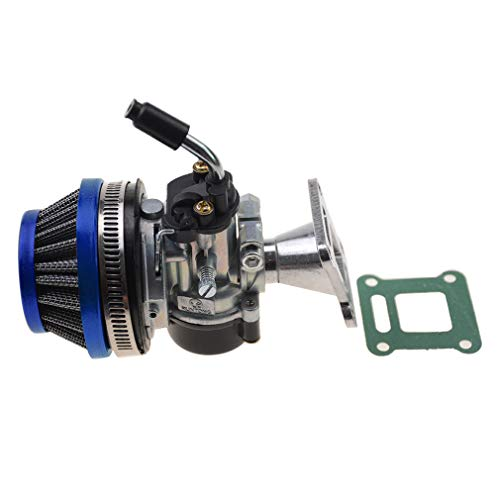 WOOSTAR 19mm Carburador con Filtros de Aire Junta Reemplazo para 2 Tiempos 47cc 49cc Mini Pocket Bike ATV Quad Chopper Azul