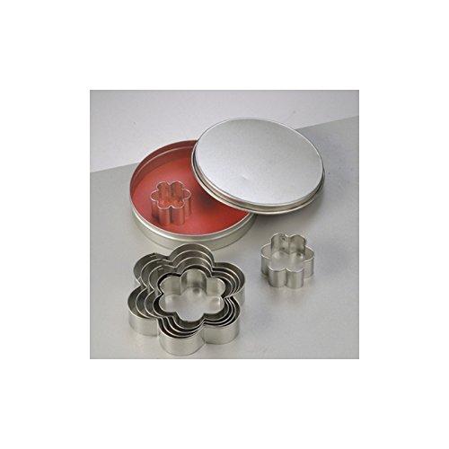 Efco Emporte-pièces en INOX, 8 Fleurs, Taille de 3 à 9 cm