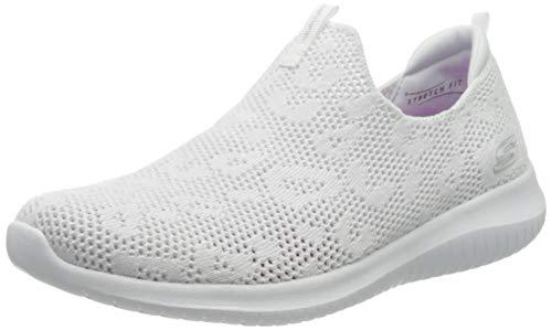 Skechers Damen Ultra Flex' Sneaker, Weiß (White Knit Mesh/White Trim WSL), 38 EU