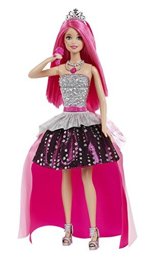 Barbie - Princesa Courtney Rockstar con micrófono (Mattel