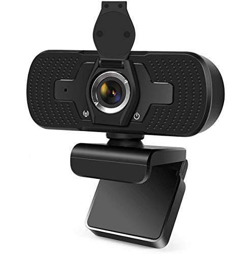 1080P HD Webcam with Microphone, Auto Focus Streaming Computer Camera with Microphone, for Video Conferencing, Online Work, Home Office,YouTube, Recording and Gaming, USB 2.0 Plug Play