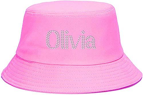 Varsany Sombrero de bebé unisex personalizado para niñas niños verano protección solar cubo sombrero playa gorras dibujos animados patrón sombreros