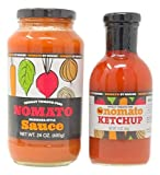 Nomato Bundle Pack Nomato- The Original Tomato Free Marinara Pasta Sauce (24 oz jar) + Nomato - The original all-natural tomato-free ketchup (12 oz bottle)