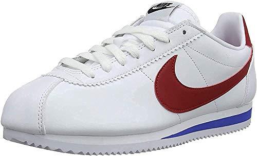 Nike Damen WMNS Classic Cortez Leather 807471 Laufschuhe, Weiß (White/Varsity Red/Varsity Royal 103), 40 EU