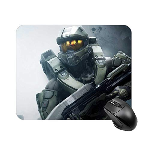 Halo Master Chief Anime Gaming Mouse Pad for Laptop Rectangle Rubber Non-Slip Waterproof Foldable Desk Mat for Desktop, 8.7x7.1 Inches