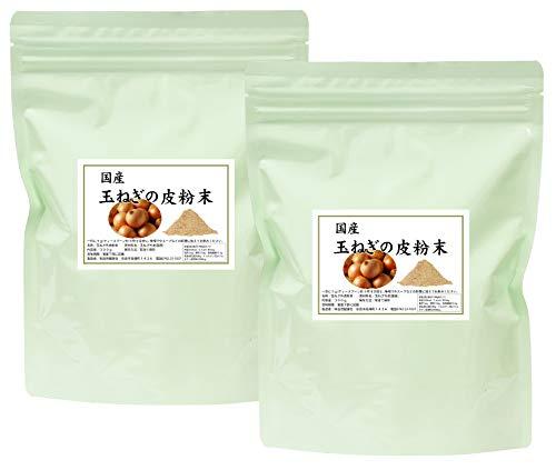 自然健康社 国産・玉ねぎの皮粉末 300g×2個 チャック付アルミ袋入り