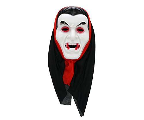 Komonee Dracula Vampir Weiß Erwachsene Halloween Maske (HM2)