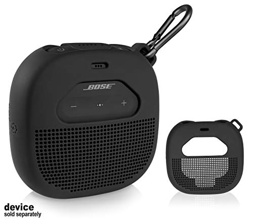 Micro Bluetooth Speaker  Featured Design with mesh Pocket for Cable and Other Accessories, Elastic Strap to Secure Device 3