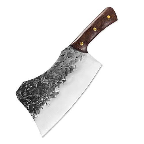 Cuchillo de hueso forjado a mano Cuchillo de cocina Carnicero Especial Cuchillo especial High Manganeso Acero Forja Chef Cuchillos Ultra Sharp Práctico juego de cuchillos de cuchillo