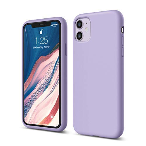 elago Silicone Case Compatible with iPhone 11 case (Lavender) - Premium Liquid Silicone, Raised Lip (Screen & Camera Protection), 3 Layer Structure, Full Body Protection