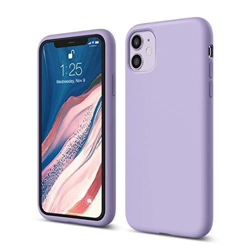 elago Liquid Silicone Case Kompatibel mit iPhone 11 Hülle (6,1'), Silikon Handyhülle, Rundumschutz : 3-Layer Schutzhülle (Lavendel)