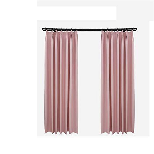 Eastery Jun Vorhänge Moderne Minimalistische Blackout Boden Fenster Erker Stoff Schlafzimmer Einfacher Stil Wohnzimmer Einfarbig Vorhang 1Pc (W300 * H260Cm) Beige