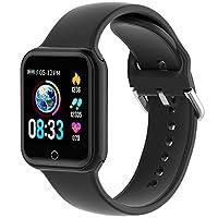 💕【Frequenza Cardiaca & Pressione Sanguigna Monitoraggio】💖Sport smartwatch ti aiutano a monitorare la frequenza cardiaca, la pressione sanguigna e il sonno🌜. automaticamente la frequenza cardiaca 24 ore al giorno. È possibile impostare il limite della...