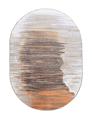 Carpets, Modern Minimalist Bedroom Light Luxury Art Area Rugs, Oval Balcony, Piano Floor Mats, Indoor Bedside, Chair Mats, Gift (Color : Multi-Colored, Size : Ellipse)