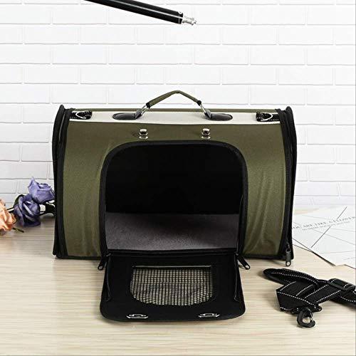SHDS Dog Cat Carrier Bags Shoulder Package Portable Outdoor Travel Tote Shoulder Backpack Pet Carrier Bag Dog House Dog Kennel 42x26x23cm Green