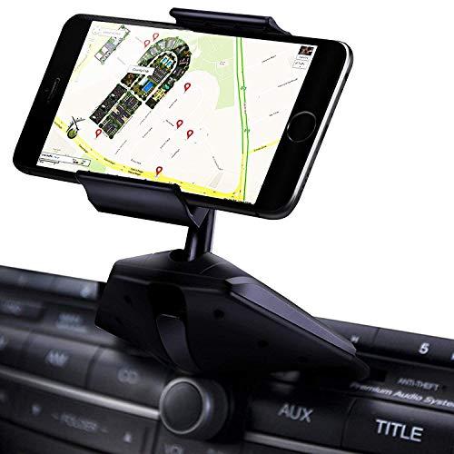 Porta Cellulare da Auto CD, Supporto Smartphone per Auto, Porta Telefono Macchina, 360 ° di Rotazione per iPhone x 7 Plus Samsung Galaxy S8 + Note 8 Moto LG Huawei Sony