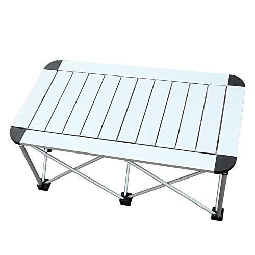 Furniture Table Pliante en Aluminium en Plein Air, Portable MéTal Rectangulaire Argent Bureau DéTachable ImperméAble à l'eau-Rouille Barbecue Camping Outils FêTe Parti Table De Loisirs