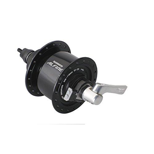 SHIMANO Unisex– Erwachsene SM-DH10 F Nabendynamo, schwarz, Einheitsgröße