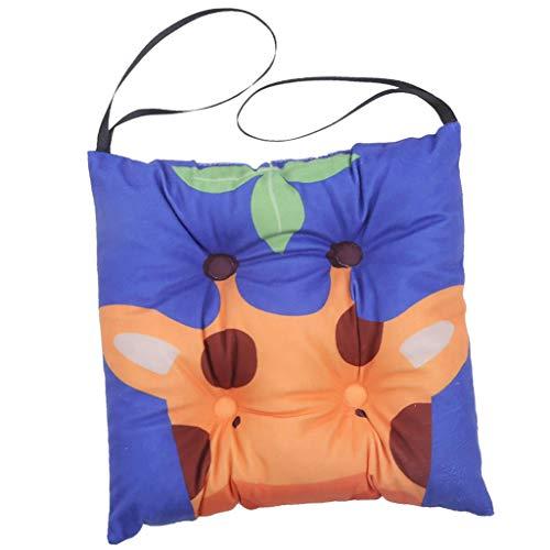 B Blesiya Cojín cuadrado para silla, diseño de jirafa, 35 x 35 cm