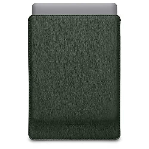 Woolnut Leder Sleeve Hülle Hülle Tasche für MacBook Pro 13 UNT Air 13 Zoll - Grün