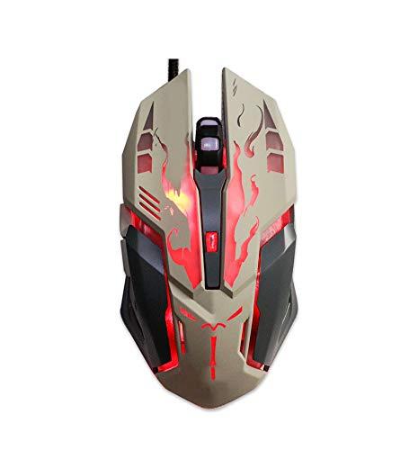 Leuchtende Maus/Maus Stumm Schalten/Gaming-Maus/DVA Gegengewicht/USB Wired Gaming Maus/30M Mikroknopf/Hochwertiges ABS-Material/Stabile Übertragung, Empfindliche Reaktion/Gaming Office