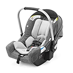 Ergonomic and lightweight, with protective sun canopy Attaches ONLY to Stokke strollers – no adapters needed Suitable from newborn to baby up to 32 inches / 32 lbs Compliant with current car seat standards and laws with side impact protection for max...