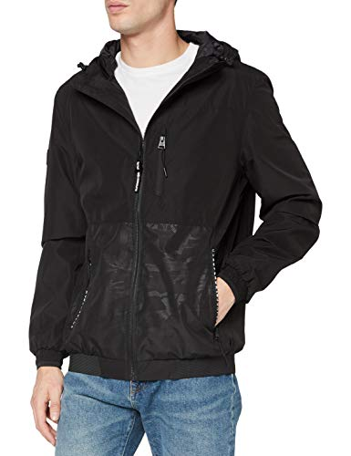 Superdry Surplus Goods Hiker Jacket Chaqueta, Negro (Black 02a), S para Hombre