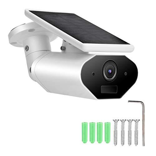 Cámara para Exteriores GAESHOW, videocámara Impermeable para Exteriores con batería Solar 1080P WiFi Inteligente con Pilas