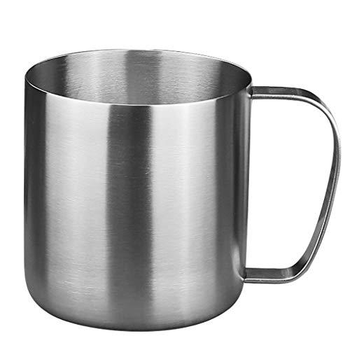 Verre à vin en acier inoxydable 480ml, verre à cocktail, verre à bière, tasse à thé, tasse à boisson, tasse à lait, tasse à eau simple couche avec poignée