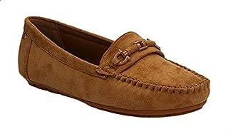 Dejavu Moc-Toe Nubuck Flat Loafers For Women
