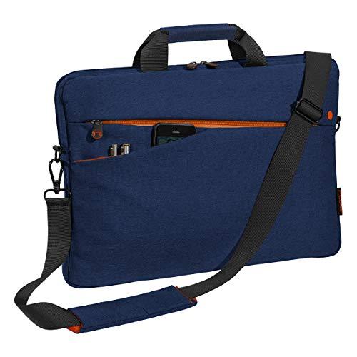 Pedea Laptoptasche Fashion Notebook-Tasche bis 17,3 Zoll (43,9 cm) Umhängetasche mit Schultergurt, blau
