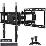 TV Wall Mounts TV Bracket for Most 26-65 Inch LED,LCD Flat Screen Curved TVs,JUSTSTONE Full Motion TV Wall Mount with Tilt Swivel Articulating Dual Arms , Max VESA 400x400mm,121 LBS Loading