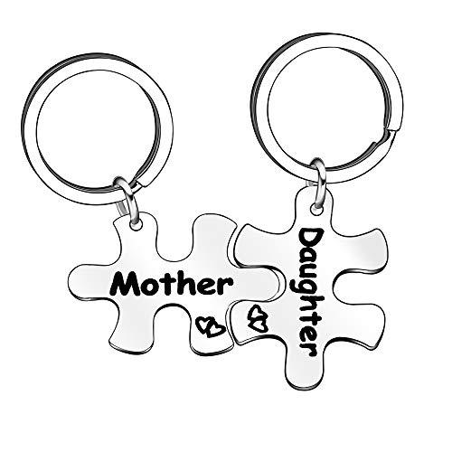 Llaveros familiares de plata para madre e hija, regalos para mamá e hija