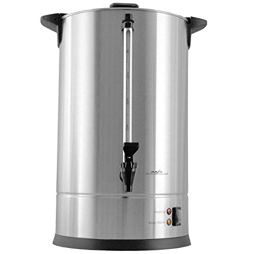 Cafe Amoroso 100 Cup Stainless Steel Coffee Maker Urn