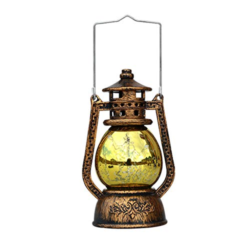 Hand lamp Ornaments Vintage Halloween Lighthouse Candle Ancient lanterns Decor For Indoor and Party Decoration