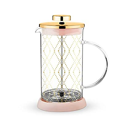 Pinky Up 9485 Riley Mini Souk Gold Glass Tea Press Pot, One size