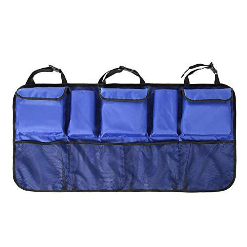 LIUCHANG Car Backseat Trunk Organizer Backseat-Car Sitzrücken Aufbewahrungsbehälterbeutel Car Boot Organizer Mesh-Tasche for SUV-Van for Platzersparnis liuchang20 (Color : Blue)