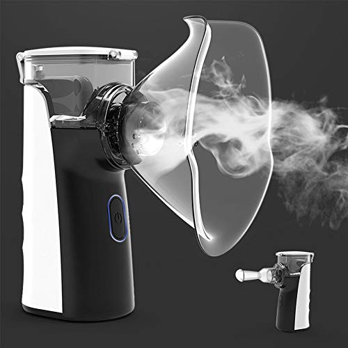 LTongx Tragbarer Mesh-Inhalatoren für Erwachsene & Kinder, Nebel Vaporizer, Mini-Ultraschall-Inhalator für Reisen und Heim täglichen Gebrauch