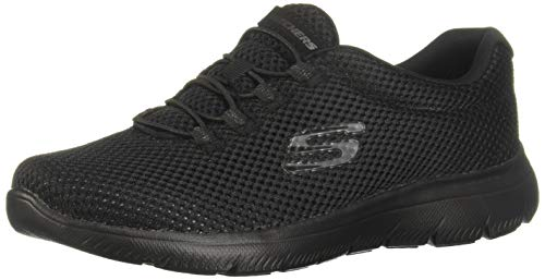 Skechers Women's Summits Trainers, Black (Black/Black Bbk), 4 UK