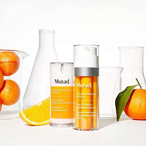 Murad Environmental Shield Vita-C Glycolic Brightening Serum - Vitamin C Face Serum - Gold Stabilized Vitamin C Serum for Face with Glycolic Acid - Skin Brightening Serum for Face, 1.0 Fl Oz