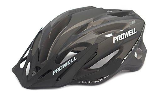 Prowell F59R Vipor Fahrradhelm Mattschwarz Gr. M (55-61 cm)
