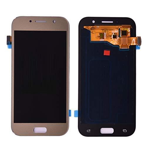Pantallas LCD para teléfonos móviles Pantalla LCD Montaje digitalizador de Pantalla táctil/Ajuste para Samsung Galaxy A5 2017 DUOS A520 A520F A520K (Color : Gold)